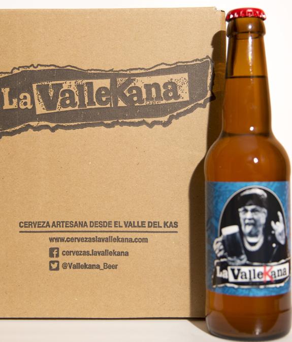 Botella y caja Botella - Cervezas La Vallekana, la cerveza artesana de Vallecas