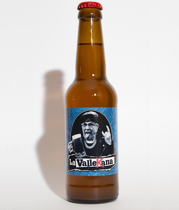 Botella golden - Cervezas La Vallekana, la cerveza artesana de Vallecas
