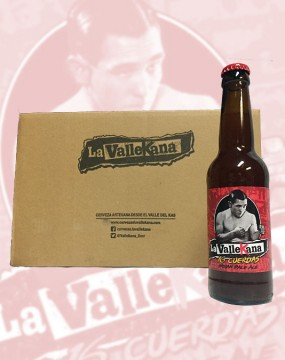 Botella y caja IPA - Cervezas La Vallekana, la cerveza artesana de Vallecas